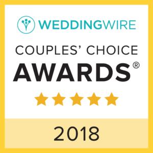 2018 Wedding Wire Couple's Choice Award